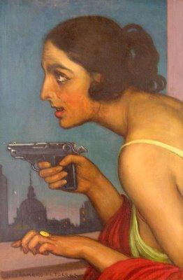 julio-romero-de-torres-mujer-con-pistola-1925