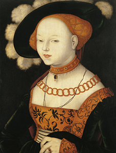 baldung grien, retrato de una dama, 1530
