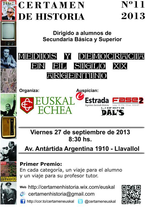 2013 - Certamen Historia - Flyer (JPG Color)