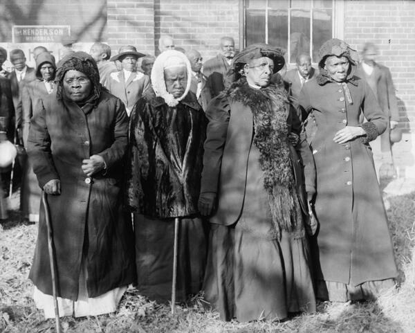 Ex esclavas asistiendo a una convención en Washington D.C., 1916